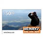 HENRY'S GIFT CARD $ 50.00 CANADIAN