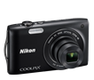 NIKON COOLPIX S3300 BLACK 16MP 6X WIDE ANGLE 2.7""