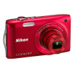 NIKON COOLPIX S3300 RED 16MP 6X WIDE ANGLE 2.7""
