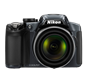 NIKON COOLPIX P510 SILVER 16.1MP 42X WIDE ANGLE 3&quot;