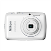 "NIKON COOLPIX S01 WHITE 10.1MP 3X 2.5""LCD"