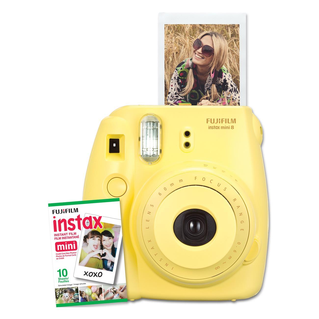Fuji instax mini 8 yellow camera film kit 600015401 for Instax mini 8 housse
