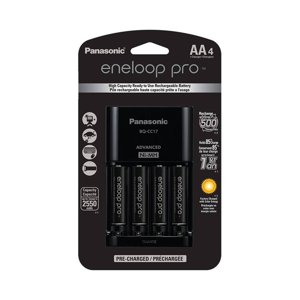 Panasonic Eneloop Pro Aa4 With Charger Kkj17khca4a Henry