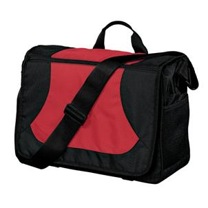 Messenger Bag in Cardinal / Black