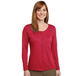 Silk Touch Cardigan, Ladies, Red