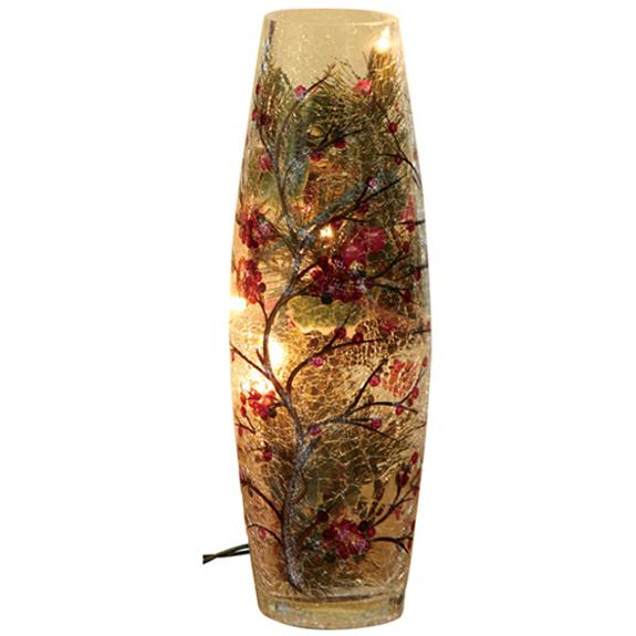 Gift Of Hope Illuminated Holly Crackle Vase