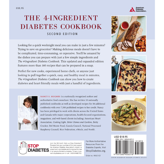 4 ingredient diabetes cookbook 2nd edition 4662 01bg forumfinder Image collections
