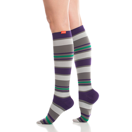 c8f6f7a21c Women's Fun Stripes Compression Socks by VIM & VIGR ( 9078-1097)