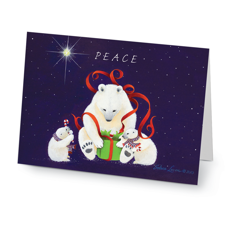 Peaceful Polar Bears Cards