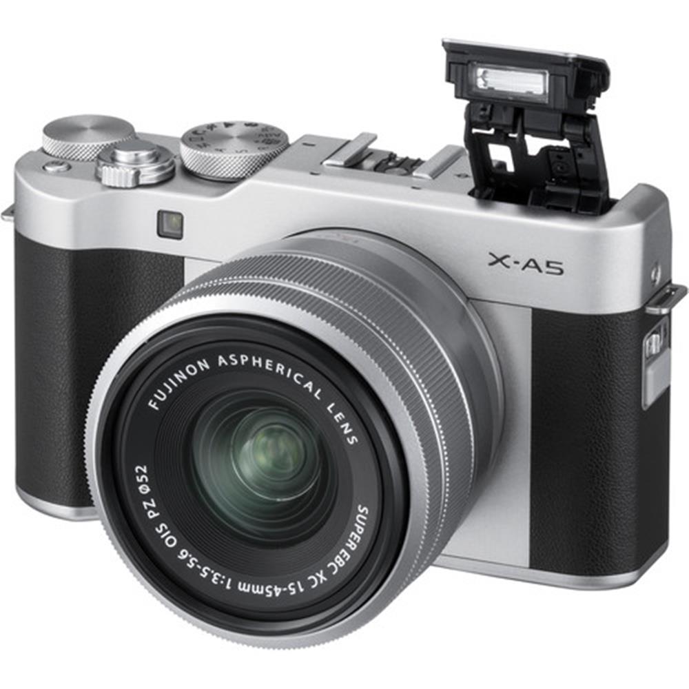 Fujifilm X A5 Silver W Xc 15 45mm Pz Lens T100 Body Xf35mm F2 Black Kamera Mirrorless 1517374142000 Img 937822