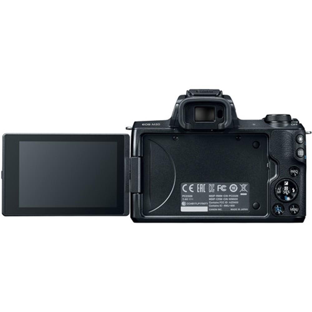 Henrys com : CANON EOS M50 BLACK W/EF-M 15-45MM IS LENS