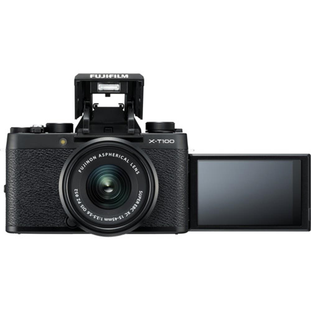 Fujifilm X T100 W Xc 15 45 Pz Black Body Xf35mm F2 Kamera Mirrorless 1527138112000 Img 991810