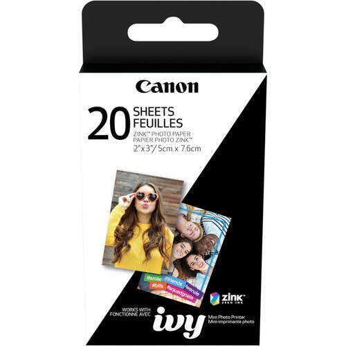 Canon ZINK 2x3 Photo Paper Pack (20 Sheets)
