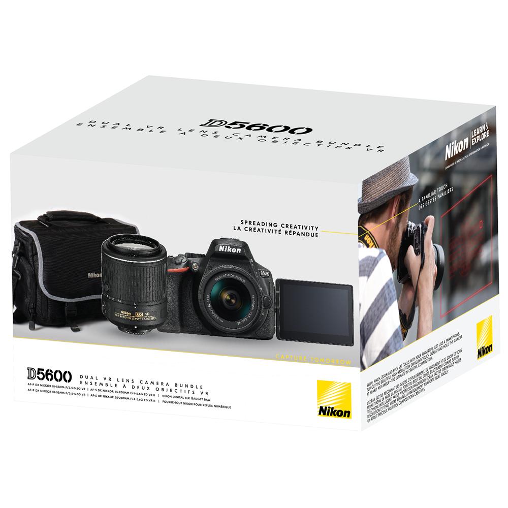 Nikon D5600 Black 18 55mm 55 200mm Ii Vr Kit Mmd5600