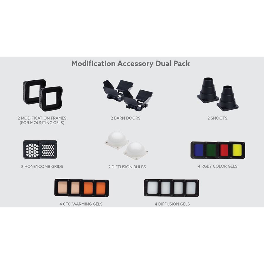 LUME CUBE MODIFICATION ACCESSORY DUAL PACK