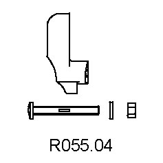 MANFROTTO R055.04 SINGLE SPIRAL LEVER