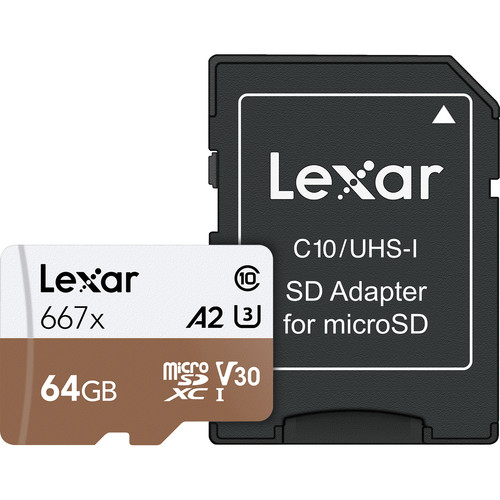 Lexar 64 GB 667x microSDXC Card