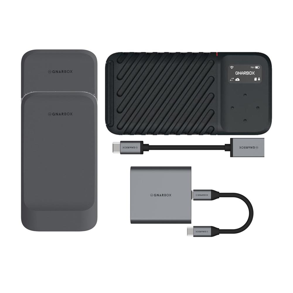 GNARBOX CF Reader with microSD//SD UHS-II Type-C USB3.1
