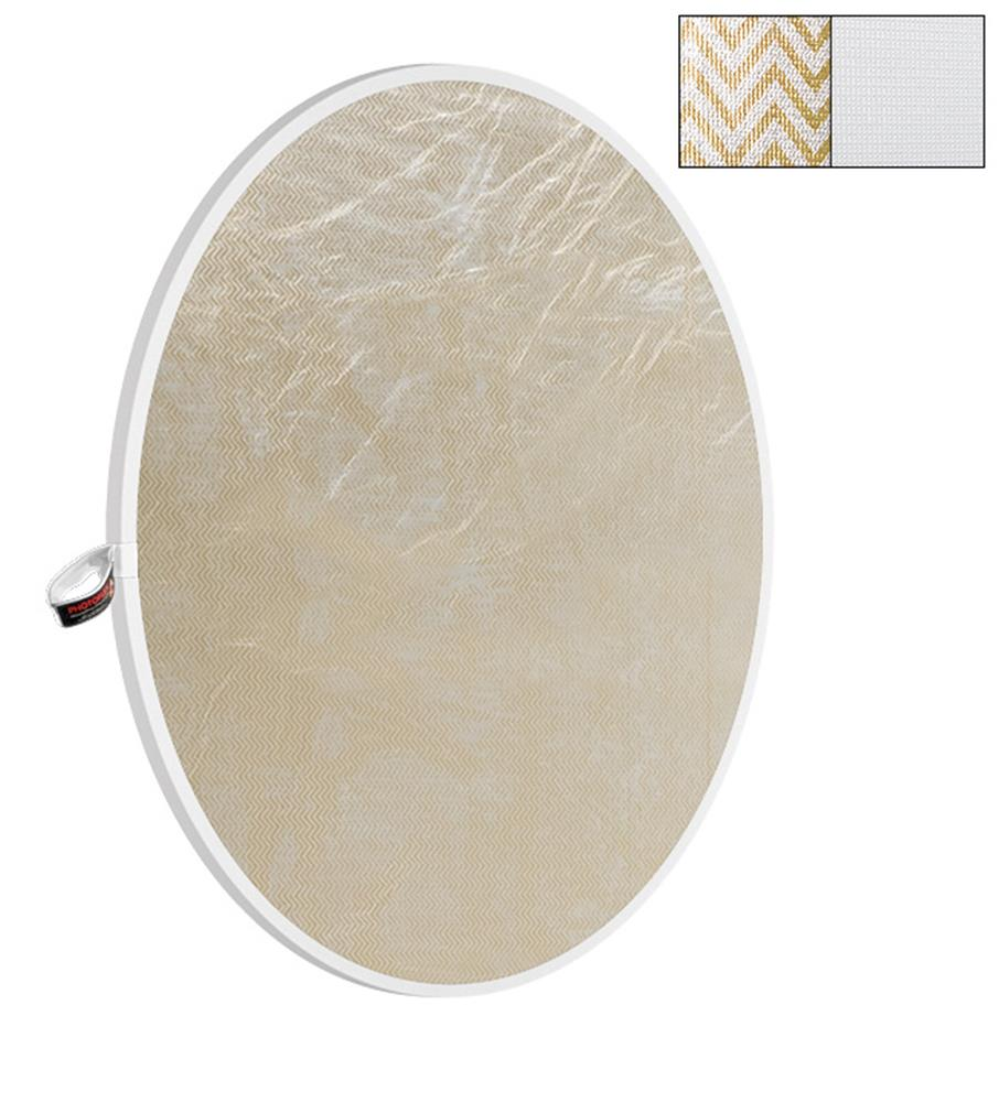"PHOTOFLEX 32"" WHITE/SOFTGOLD REFLECTOR"