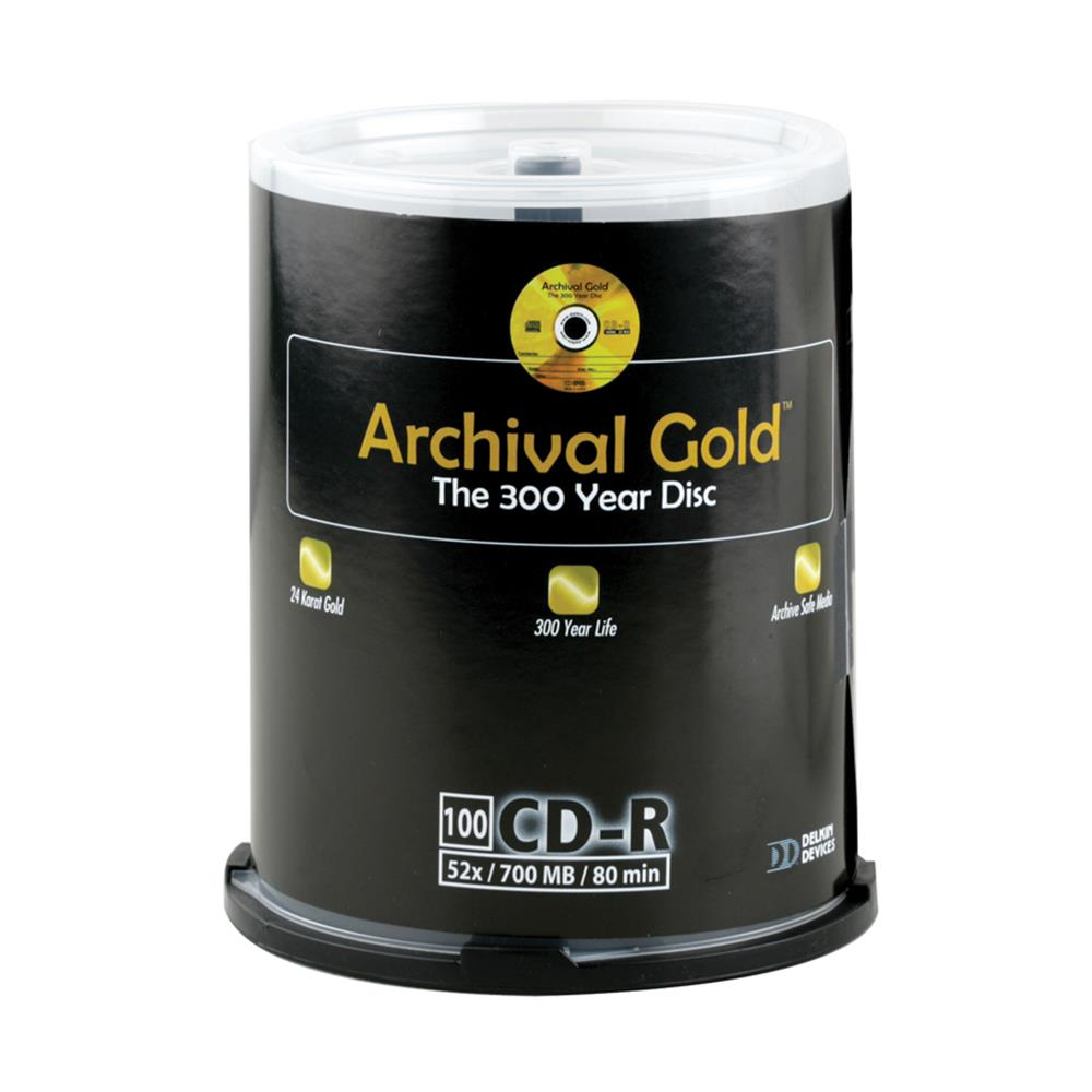 ARCHIVAL GOLD CD 100PK SPINDLE