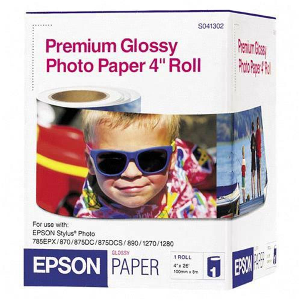 "EPSON PREMIUM GLOSSY 4"" ROLL PAPER"