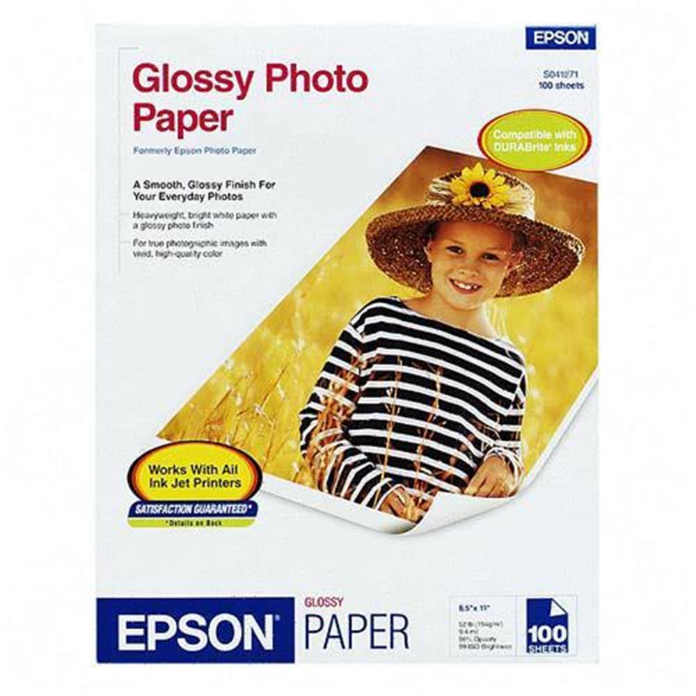 EPSON PHOTO PAPER 8.5X11 100STS