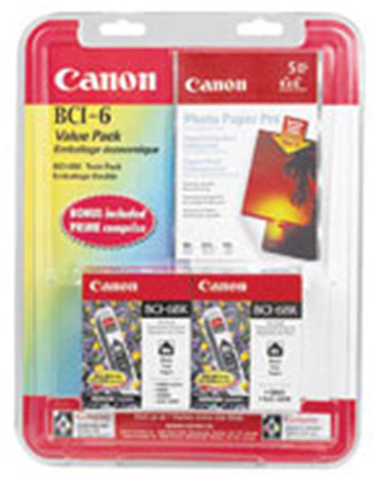 CANON BCI-6BK BLACK INK TANK 2-PACK