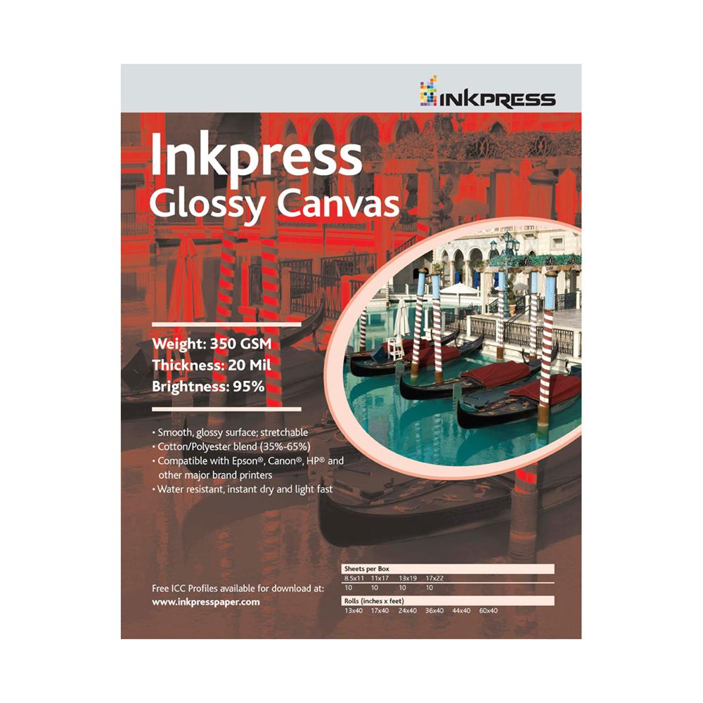 INKPRESS GLOSSY CANVAS 17X22 (10SH)