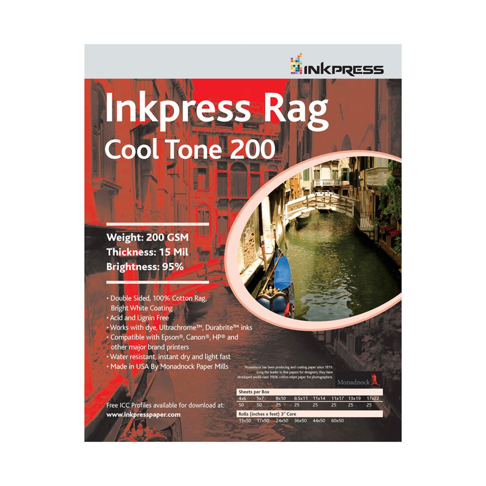INKPRESS RAG COOLTONE 24X50 ROLL 200GSM