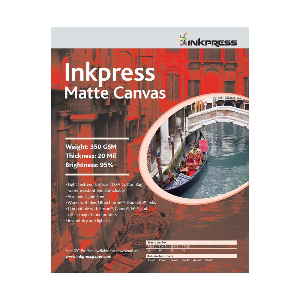 "INKPRESS MATTE CANVAS 13""X19"" 10SH"