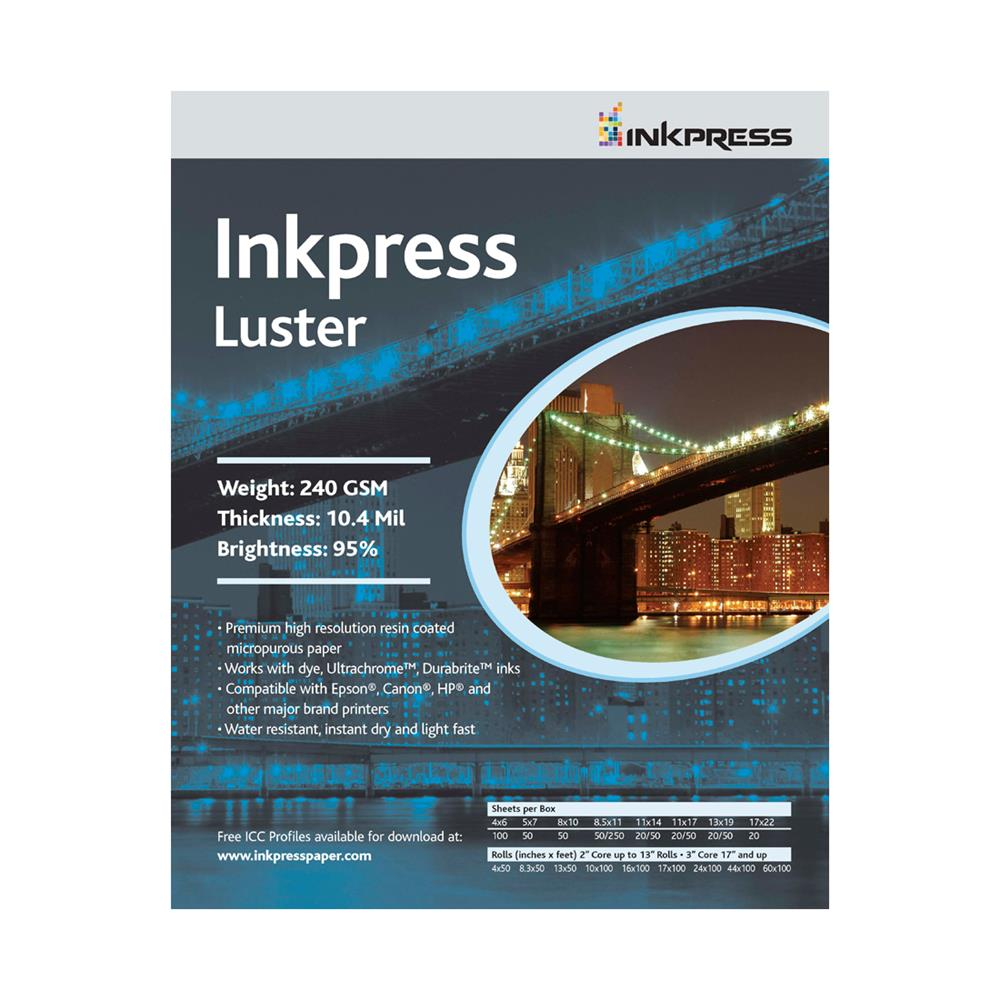 "INKPRESS LUSTER 17""X100' ROLL 240GSM"