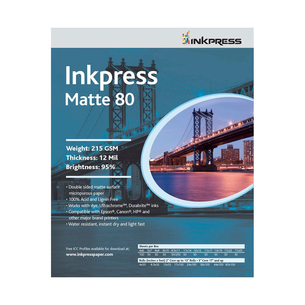 "INKPRESS DUO MATTE 80 36""X100' ROLL"
