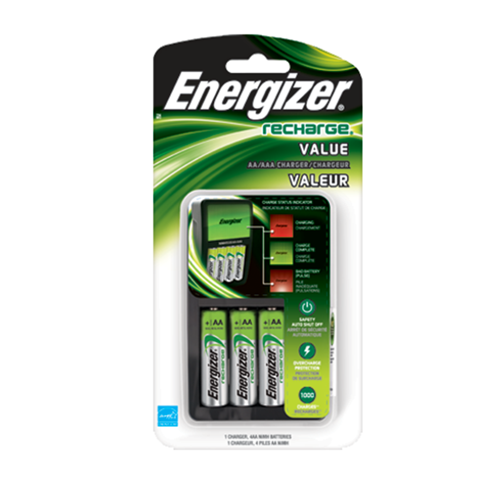 ENERGIZER AA/AAA VALUE CHRGR 2AA 2000MA