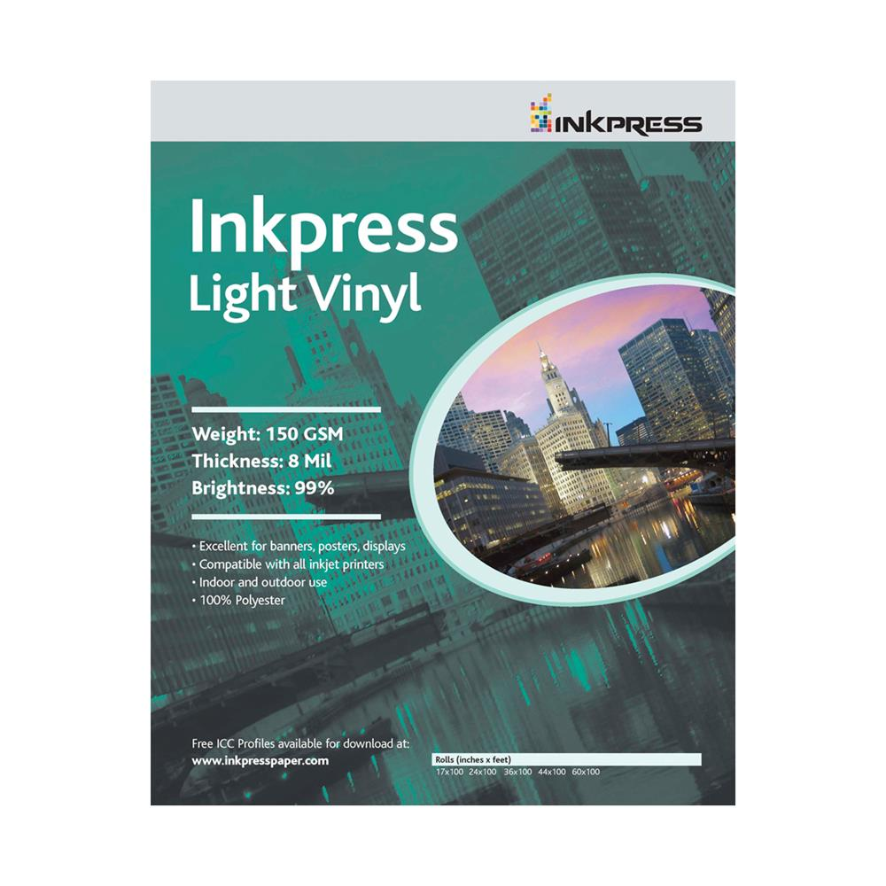 "INKPRESS LIGHT VINYL 24""X100' ROLL"