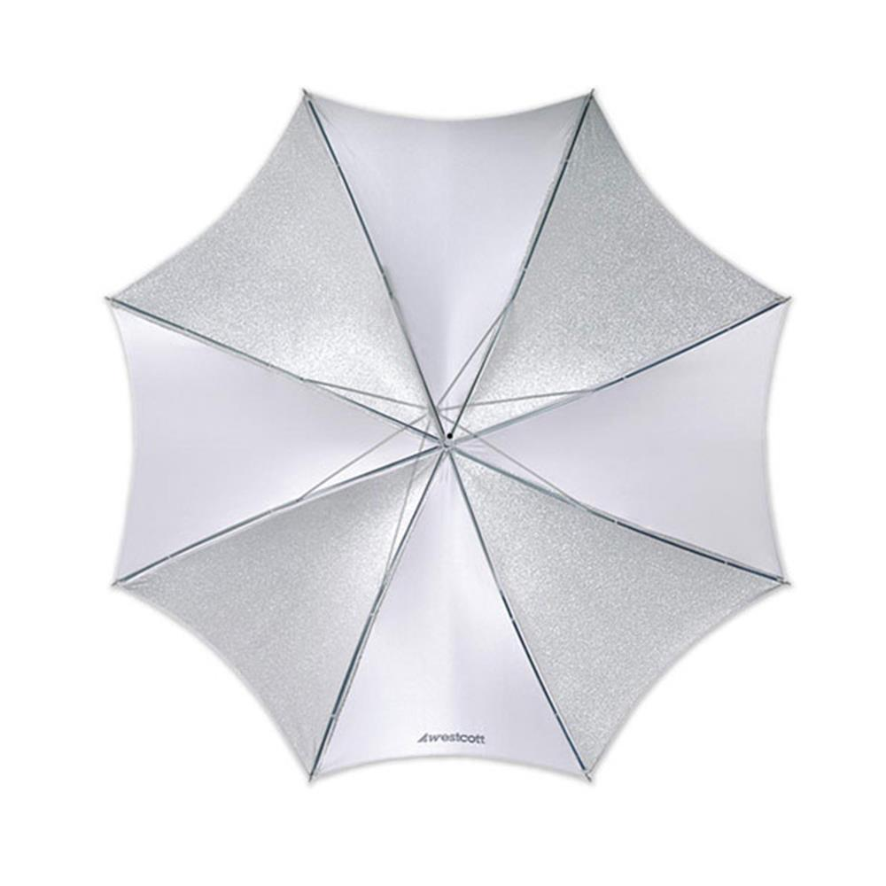 "WESTCOTT 43"" SOFT SILVER COLLAPSIBLE UMBRELLA"