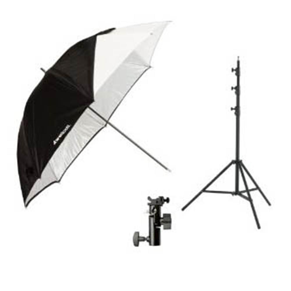 "WESTCOTT 43"" COLLAPSE UMBRELLA FLASH KIT"