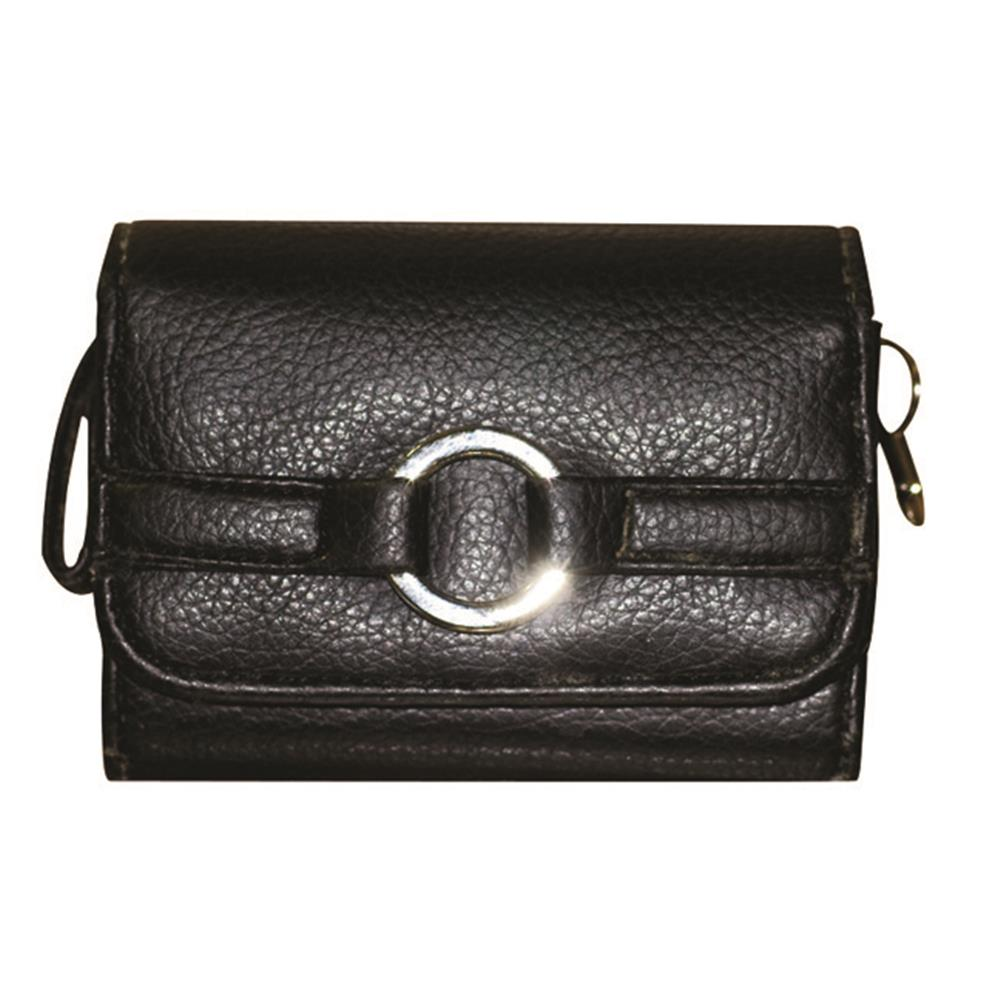 MILAN BLACK LEATHER CAMERA CASE