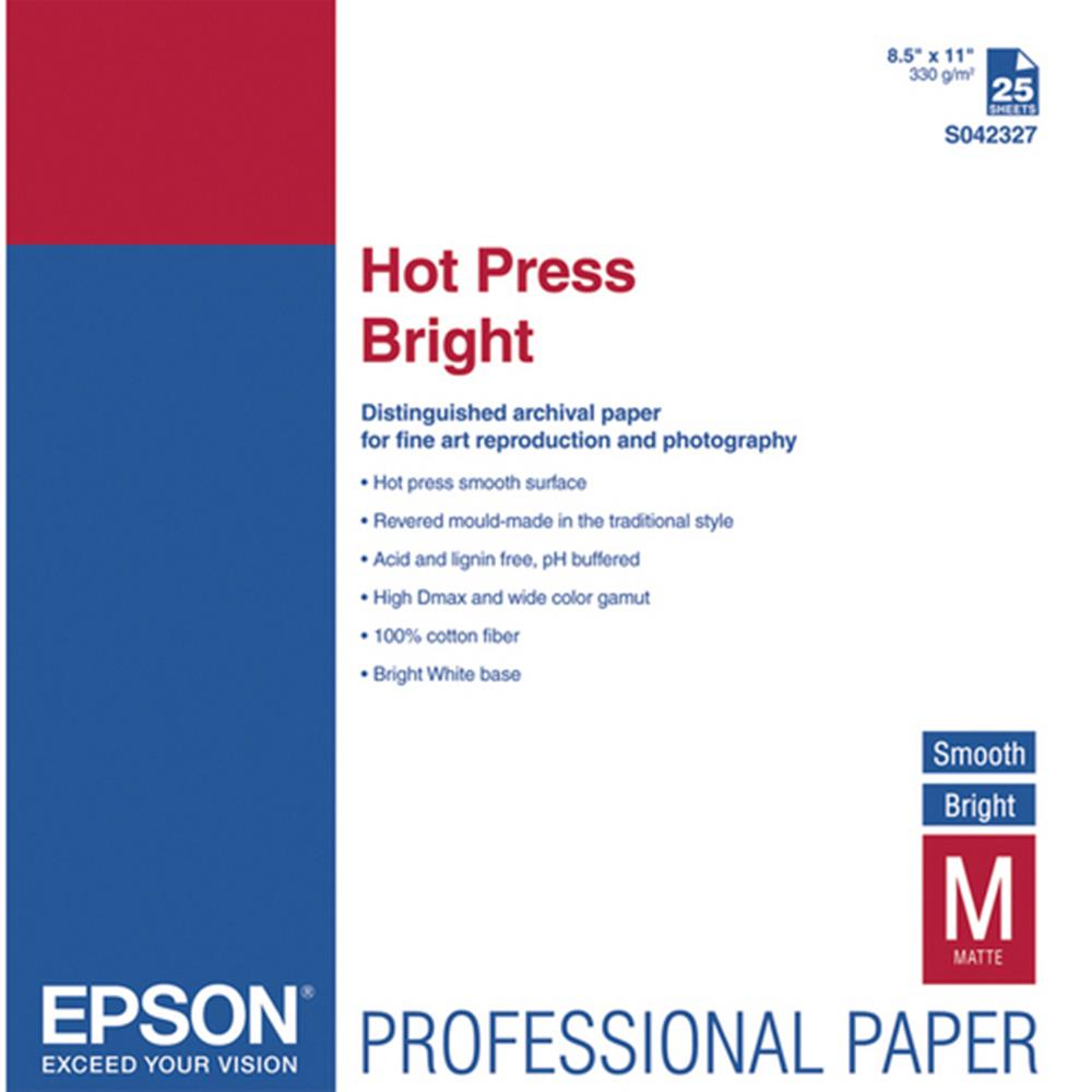 EPSON HOT PRESS BRIGHT 8.5X11 25SH