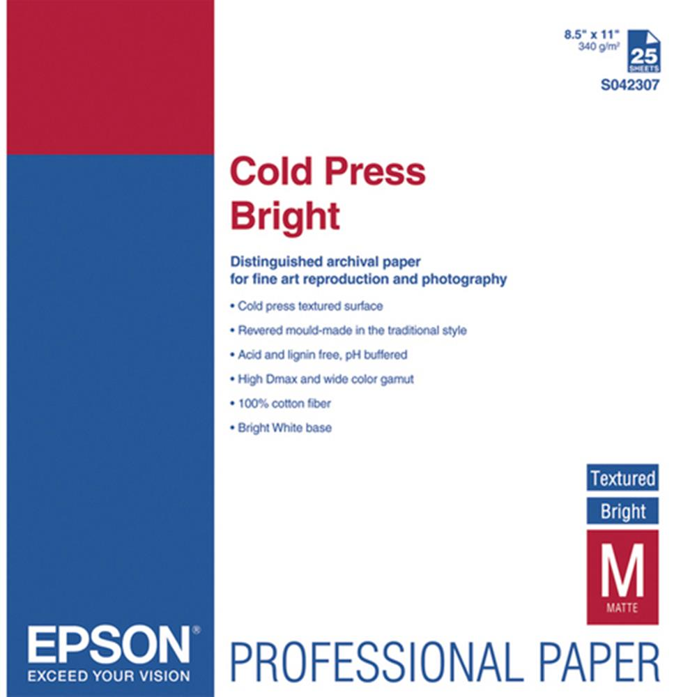 EPSON COLD PRESS BRIGHT 8.5X11 25SH