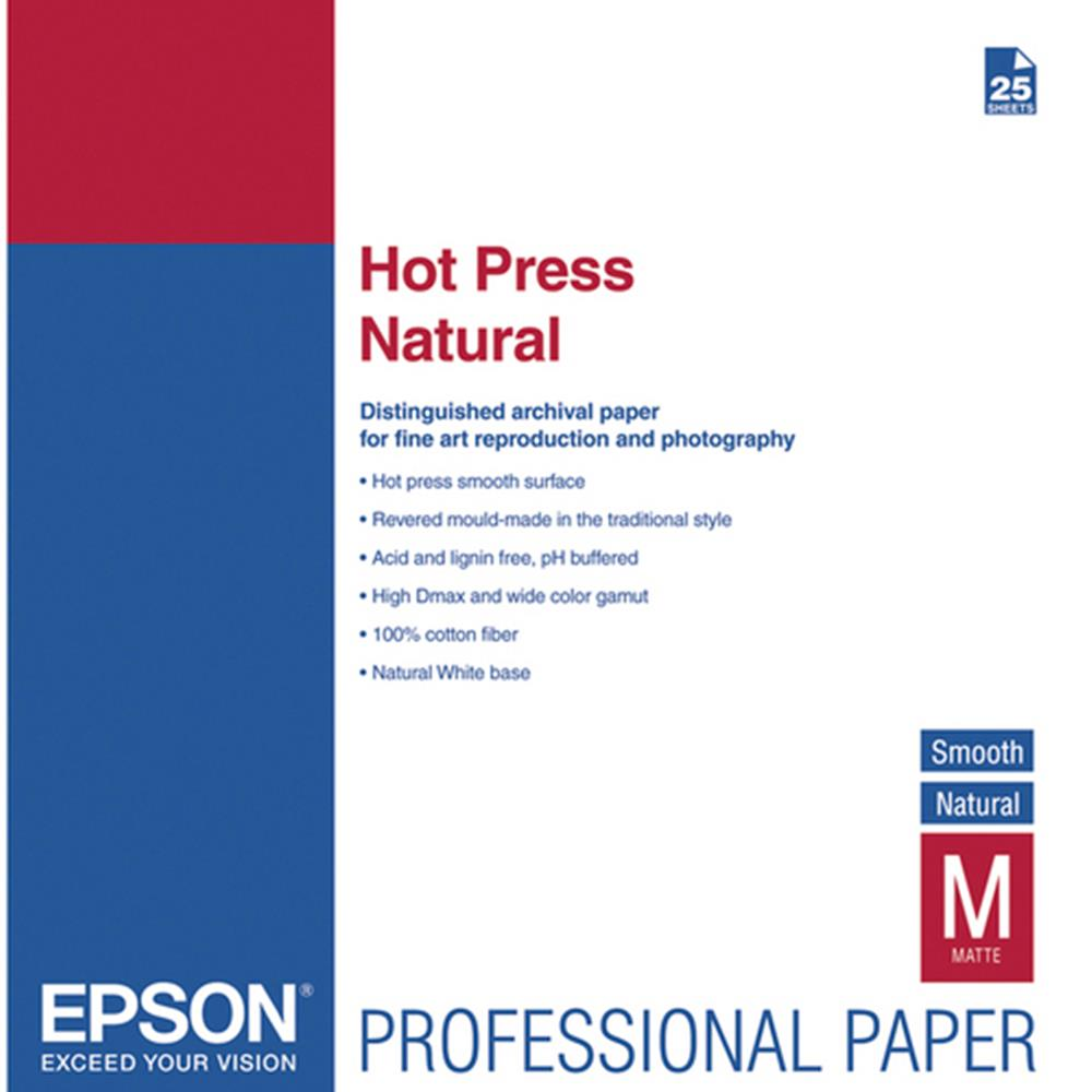 EPSON HOT PRESS NATURAL 13X19 25SH