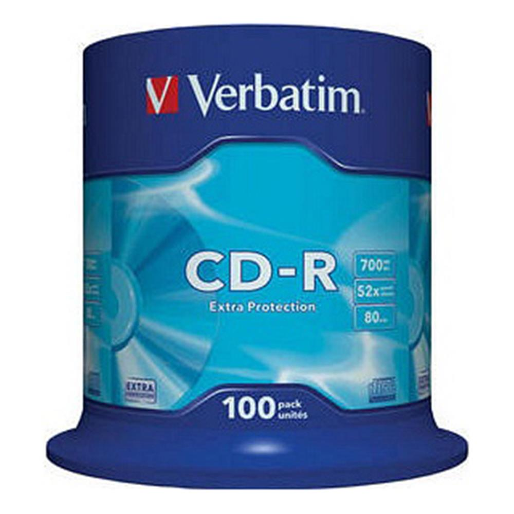 VERBATIM CD-R 80MIN 52X 100PK SPINDLE