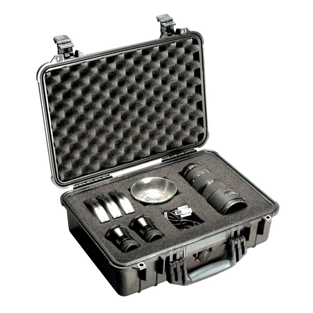 PELICAN 1500 CASE, BLACK W/FOAM