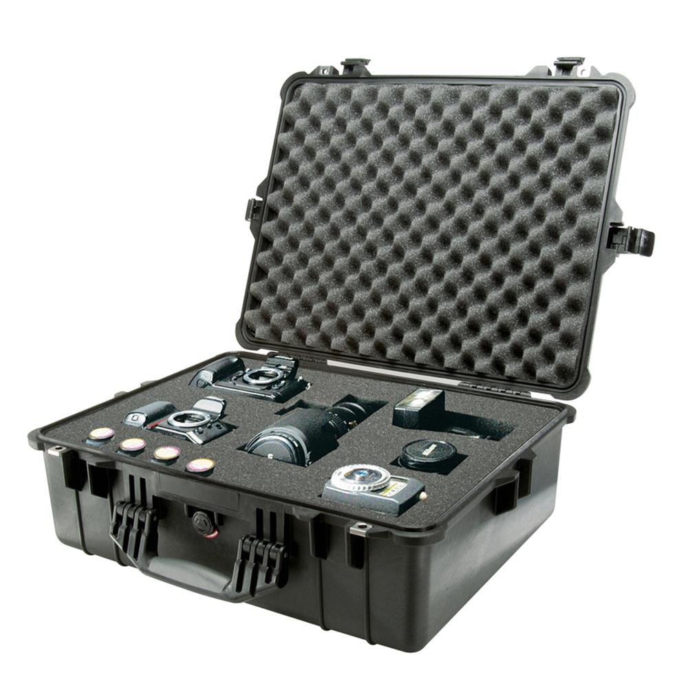 PELICAN 1600 CASE, BLACK W/FOAM INSERT