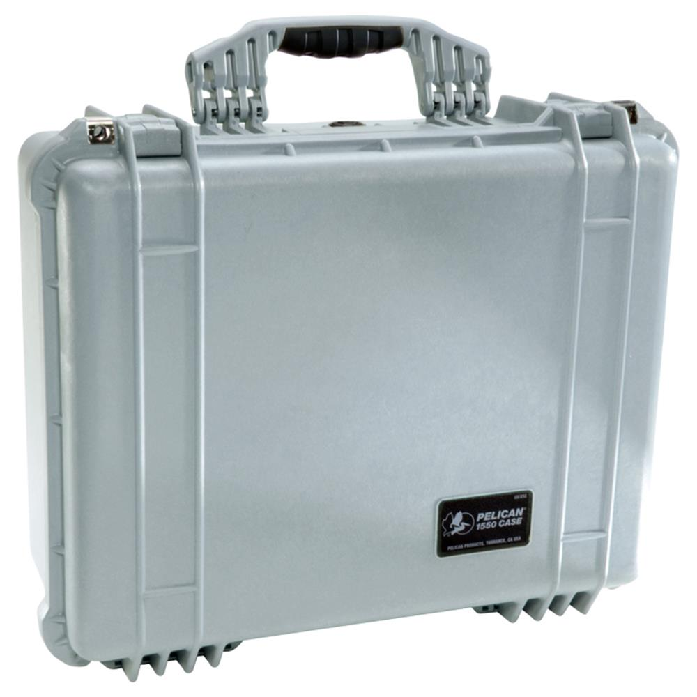 PELICAN 1550 CASE W/DIVIDERS, GREY