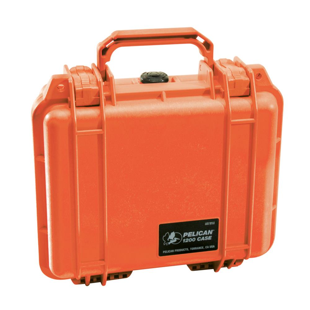 PELICAN 1200 CASE, ORANGE W/FOAM