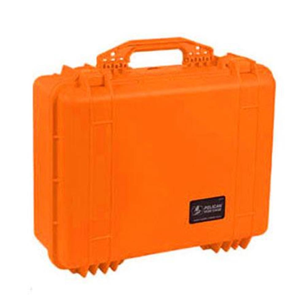 PELICAN 1520 CASE W/DIVIDERS, ORANGE