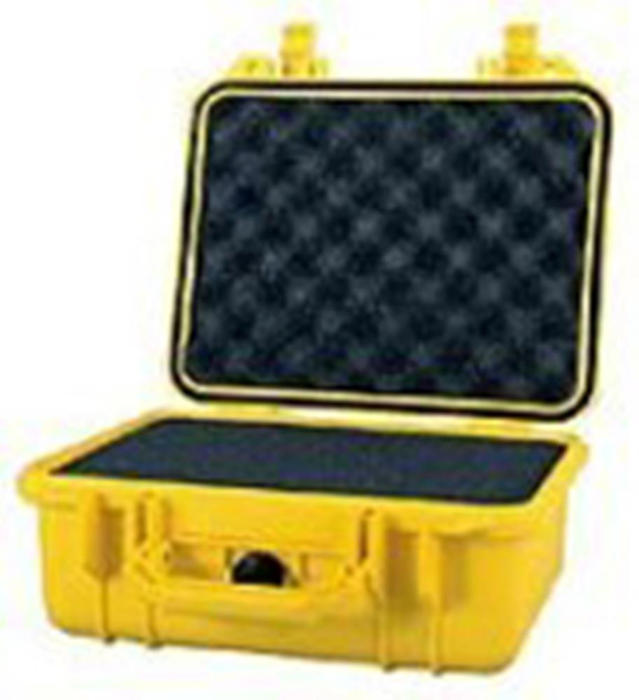 PELICAN 1400 CASE W/FOAM, YELLOW