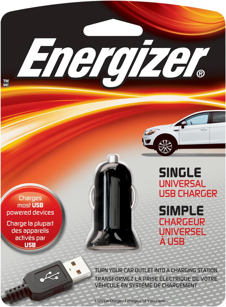 ENERGIZER SINGLE USB CAR CHARGER PC-1CA