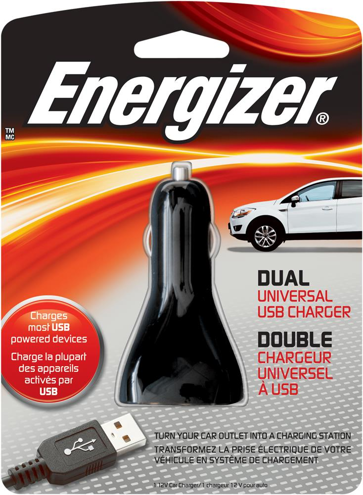 ENERGIZER DUAL USB CAR CHARGER PC-2CA