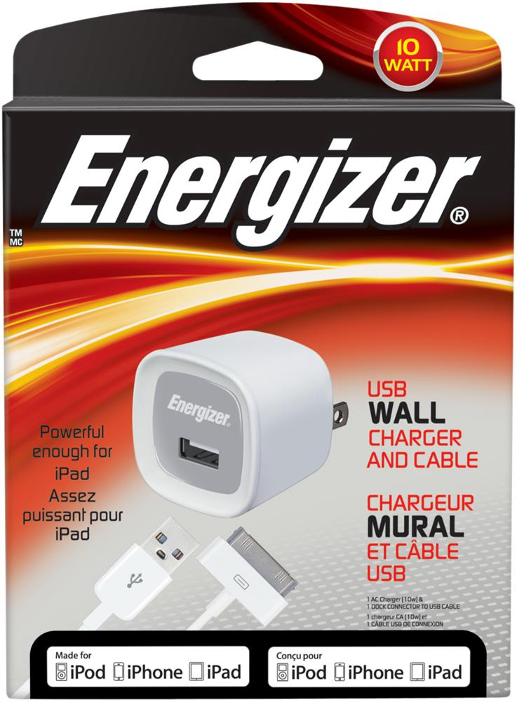 ENERGIZER 10W USB WALL CHGR PC-1WAT IPAD